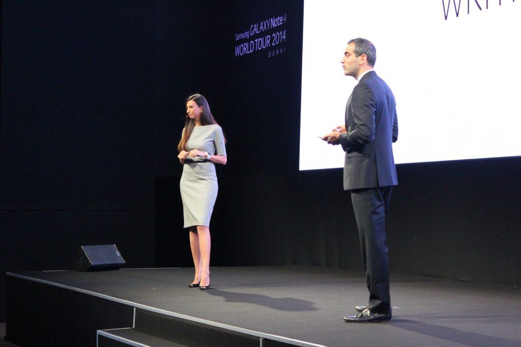Shereen Mitwalli Presenting Samsung