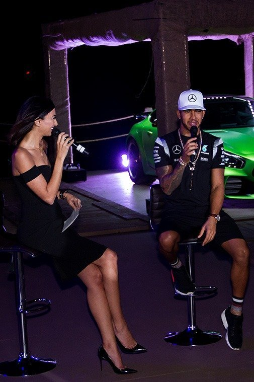 Onstage Event - Shereen Mitwalli interviewing Lewis Hamilton