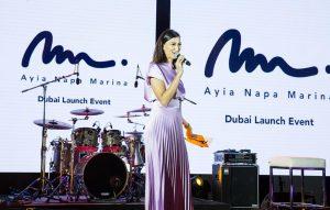 Onstage International | Shereen Mitwalli Presenting in Ayia Nappa Marina Launch Even