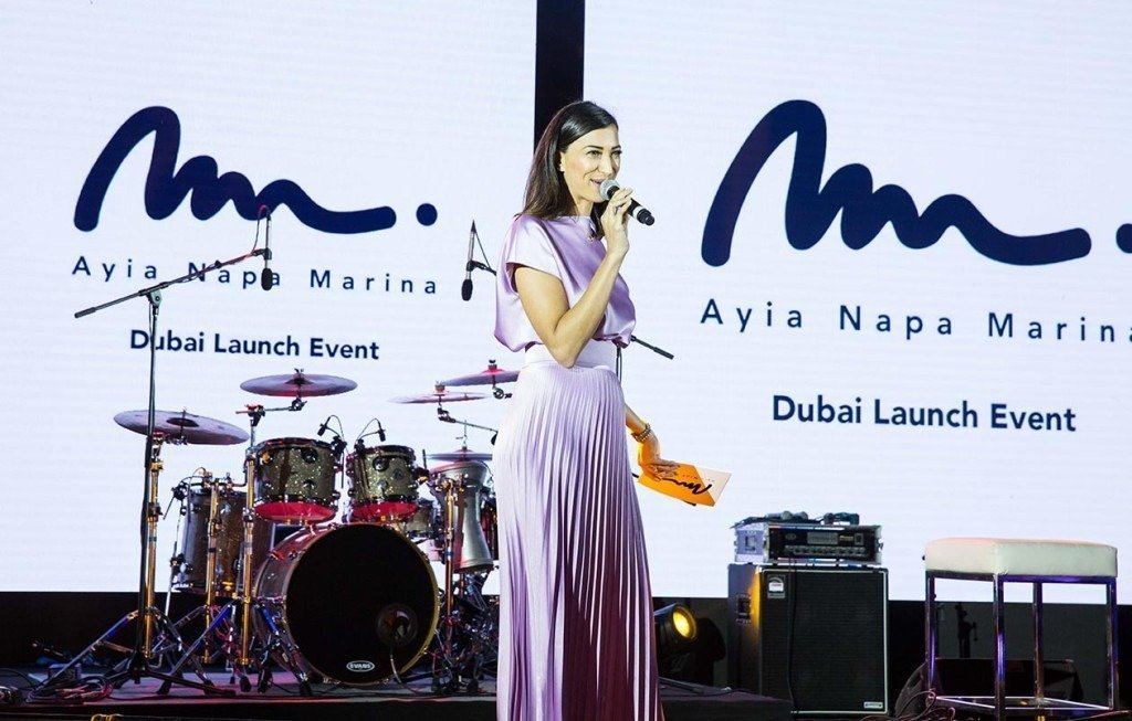 Onstage International | Shereen Mitwalli Presenting in Ayia Nappa Marina Launch Even